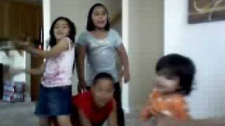 The kids fooling around to OMG by Usher ENJOY! It went from singing and dancing to doing random stuff.