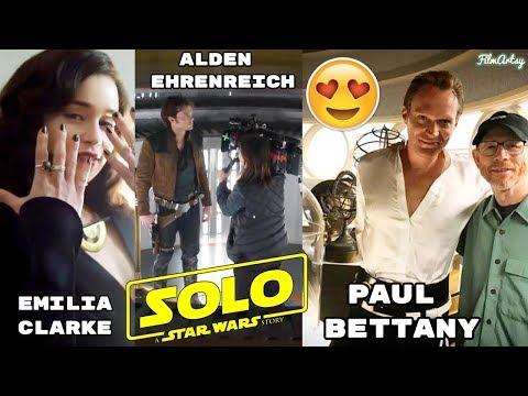 Solo: A Star Wars Story Bloopers, B-Roll, & Behind the Scenes - Emilia Clarke 2018