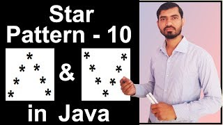 Star Pattern - 10 Program (Logic) in Java by Deepak