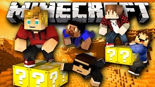 "Minecraft Lucky Block PARKOUR Challenge ""Lucky Sword GG"" Modded Mini-Game! w/ Lachlan&Friends"