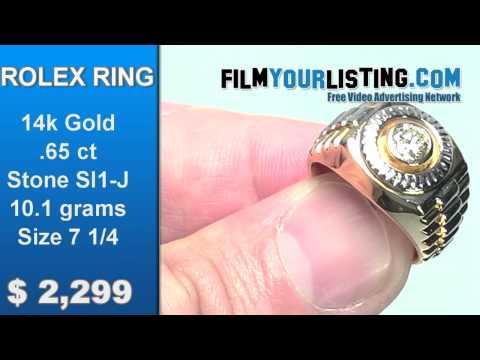 Rolex Diamond Ring for sale
