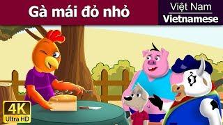 Cô Gà Nhỏ Mào Đỏ - Chuyện kể đêm khuya - Phim hoạt hình - 4K UHD - Vietnamese Fairy Tales