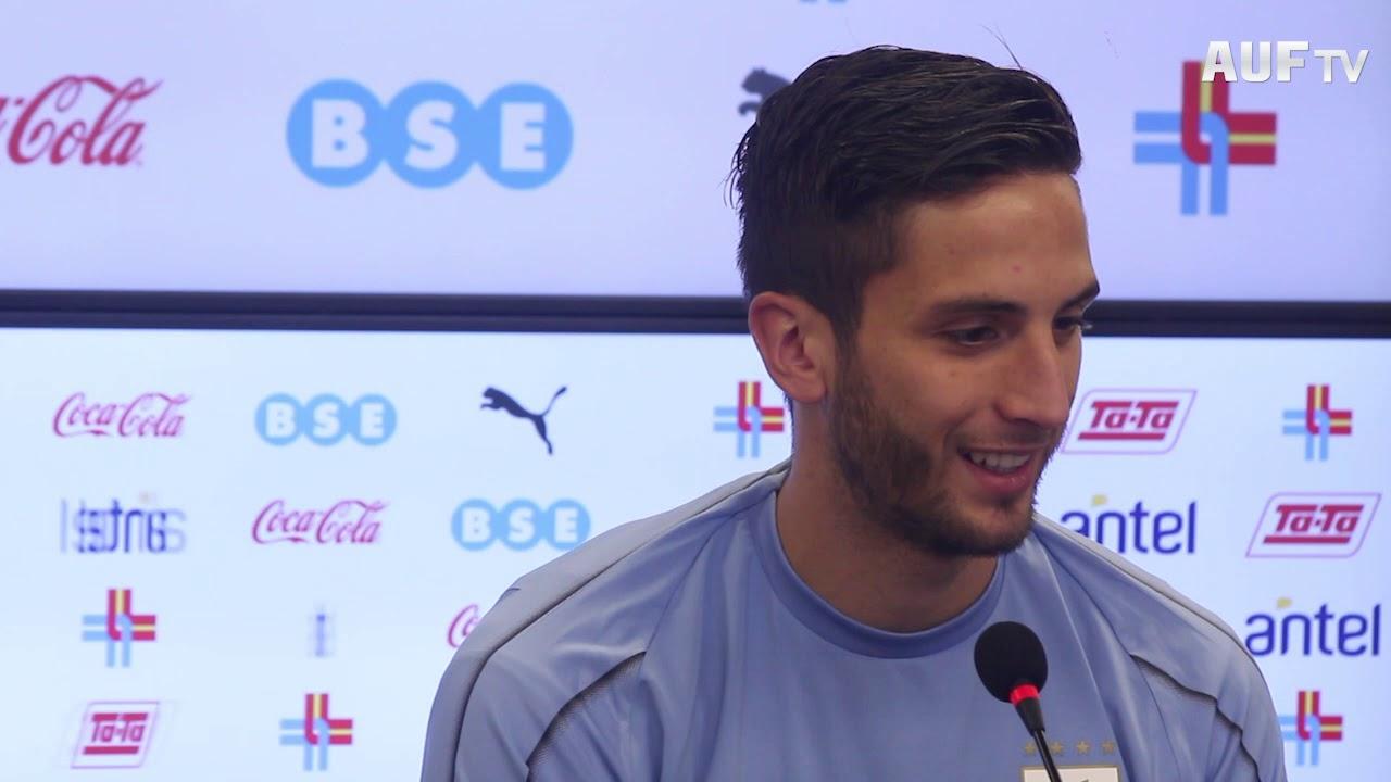 Rodrigo Bentancur atendió a los medios este martes