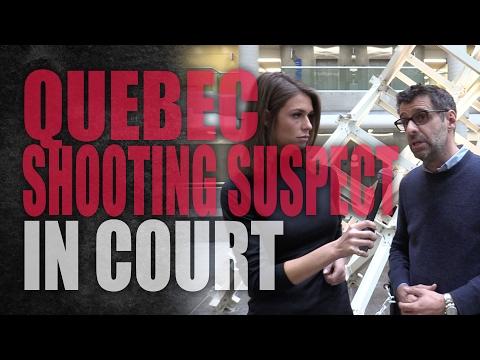 Quebec Shooting Suspect In Court (видео)