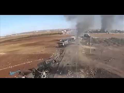 Уничтоженный Турецкий конвой в Сирии после удара ВКС РФ Новости России - DomaVideo.Ru