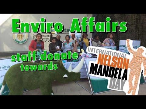 Environment Affairs staff donate goods for Mandela Month