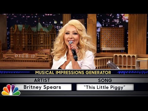 Wheel of Musical Impressions with Christina Aguilera (видео)