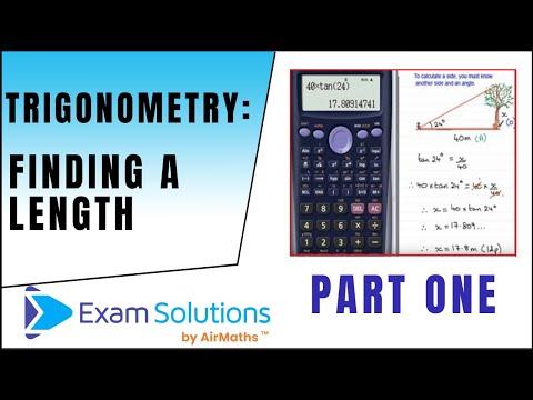 Trigonometrie - Die Suche nach einer Seite (1): Testlösungen