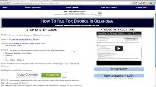 LIKE THIS VIDEO IF YOU LIKE FREE FORMS!! Download: http://howtofilefordivorce.org/divorce-papers-oklahoma.htm Includes:...