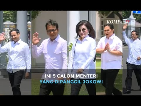 5 Tokoh Digadang Jadi Menteri Jokowi Datang ke Istana, dari Mahfud MD, Nadiem Makarim, Wishnutama
