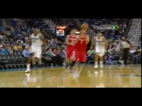 Jeremy Lin steal leads to Kevin Martin fast break slam