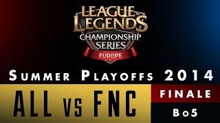 LCS EU Summer Playoffs 2014 - Finale - ALL vs FNC - Game 1