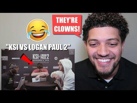 REACTING TO KSI VS. LOGAN PAUL 2 FACE TO FACE! *HILARIOUS REACTION*