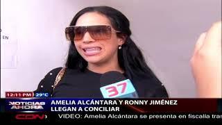 Amelia Alcántara y Ronny Jiménez llegan a conciliar