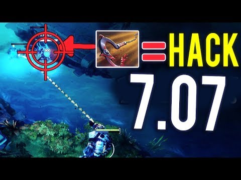 WTF Dota 2 Pudge Cheater 7.07 Target Seeking Hooks is Real by OG.Ana in Dendi's Set