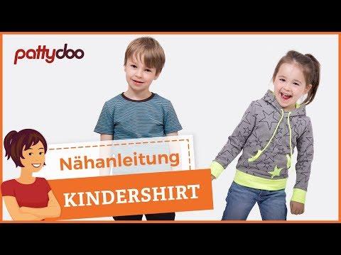Kindersachen nähen - Shirt/Pullover mit Kapuze und Bündchen