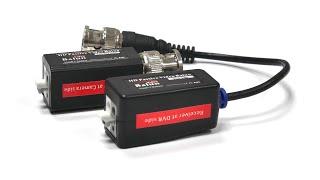 Видео. Подключаем камеру AHD и HDCVI по кабелю витая пара к видеорегистратору. DT-HDP4002