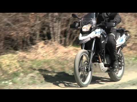 BMW F 650 GS Sertao 2012 sullo sterrato (видео)