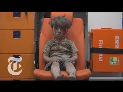 The Syrian Boy Pulled from the Rubble in Aleppo