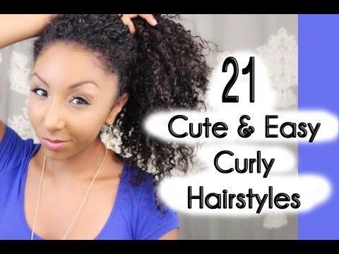 21 Cute and Easy Curly Hairstyles!