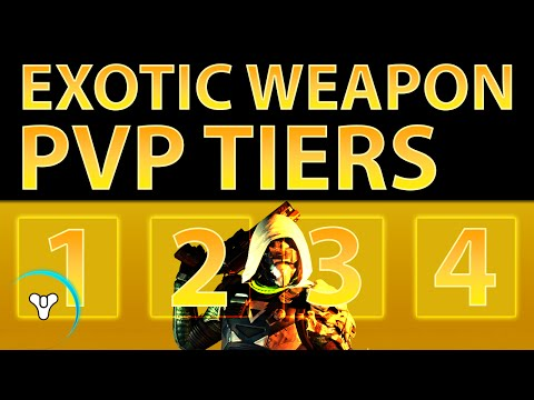 Planet Destiny: Best & Worst Exotic PvP Weapons (Exotic Tiers)