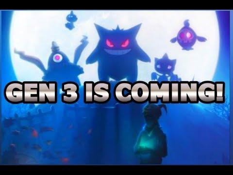 GEN 3 IS COMING TO POKEMON GO THIS HALLOWEEN!
