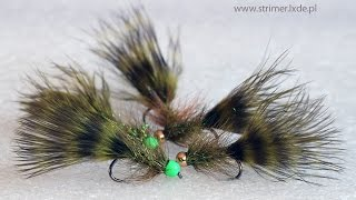Woolly bugger grizzly marabou