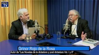 Juan Pablo Cárdenas conversa con el escritor Grínor Rojo