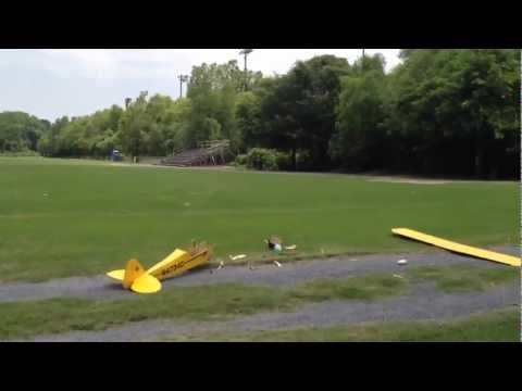 Restored J3 Piper Cub First flight and crash.