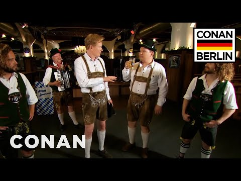Conan & Andy Richter Learn A Traditional German Dance - CONAN on TBS