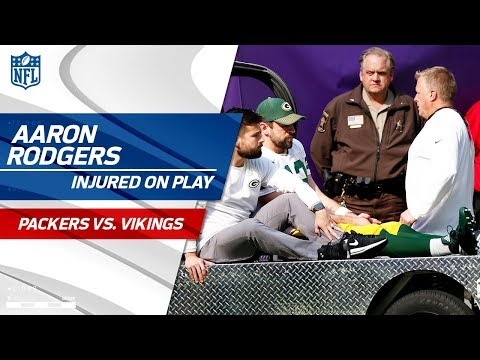 Video: Aaron Rodgers Injured After Taking a Hit from Anthony Barr | Packers vs. Vikings | NFL Wk 6