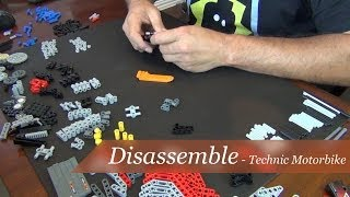 Disassemble - Lego Technic Motorbike Set #8051