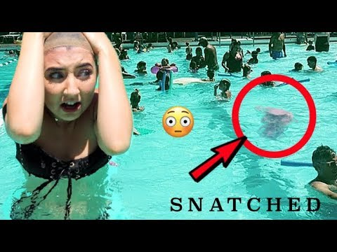 TESTING WIGS IN THE POOL! Can You Swim Wearing A Wig???