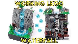 Working Lego Waterfall - with Continuous Flowing Water!