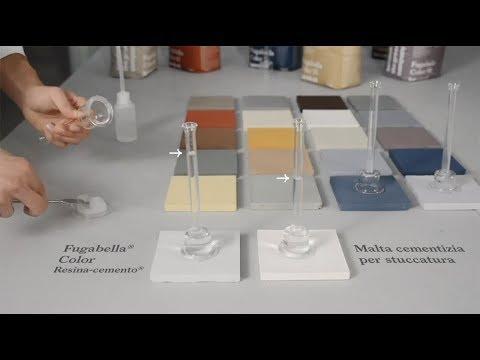 Fugabella Color tecnologia ibrida Resina-cemento