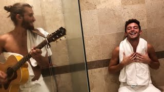 Ruggero Pasquarelli & The Room Service - Amigos con derechos / Bonita (REIK ft. MALUMA) (CNCO) Live