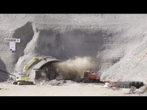 Von Aichelberg bis Hohenstadt durch die Schwäbische Alb - Tunnelarbeiten 2013