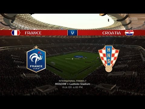 France Vs Croatia | 2018 FIFA World Cup Final | Prediction (Simulation Match 1) | FIFA 18