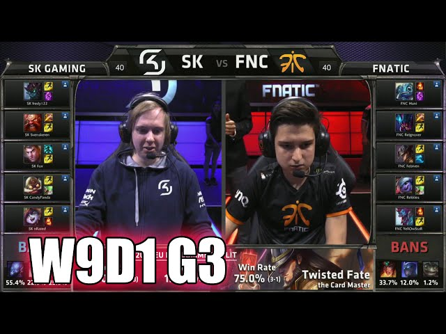 SK Gaming vs Fnatic | S5 EU LCS Summer 2015 Week 9 Day 1 | SK vs FNC W9D1 G3
