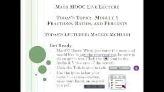 College Readiness Math MOOC - Module 1 Live Lecture