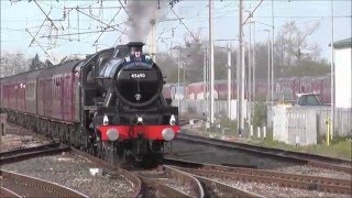 Carnforth United Kingdom  city pictures gallery : 45690 Leander with Great Britain 9 (Day 9) at Carnforth on 4th May 2016