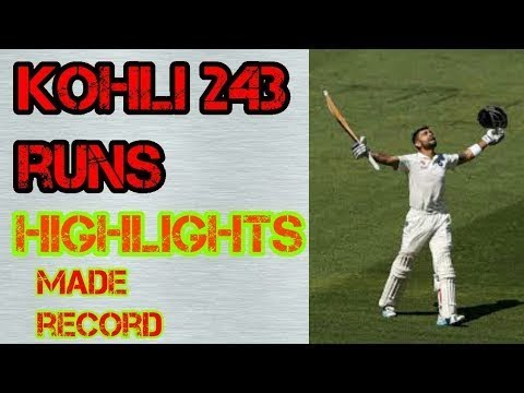 Highlights Virat Kohli 243 Runs vs Srilanka  | 2nd Test
