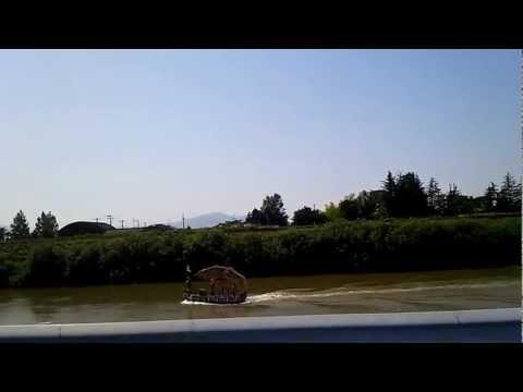 「種は船」中ノ口川を行く! 新潟市茨曽根小学校WORKSHOP 2012/8/21