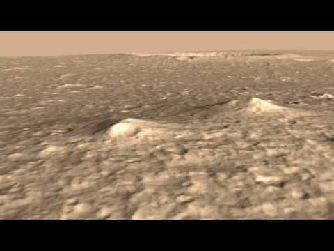 Mars Pathfinder Landing Site - HiRISE DEM Animation