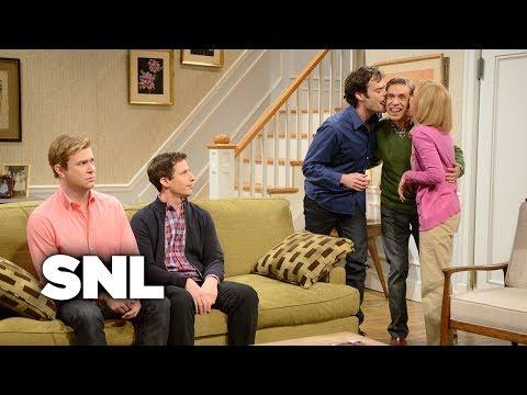 Kissing Family: Brecken Brings His Boyfriend Home - SNL