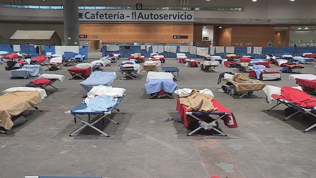 Καταφύγιο για τους άστεγους στη Μαδρίτη