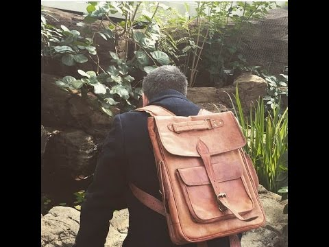 Leather College Backpack - High On Leather