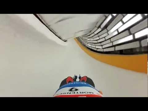 POV Doubles Luge in Sochi Russia