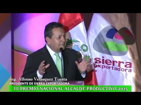 III PREMIO NACIONAL ALCALDE PRODUCTIVO 2015