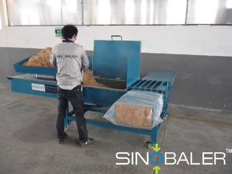 SINOBALER - Scale Weighing Horizontal Bagging Baler, a Baling and Bagging Machine.